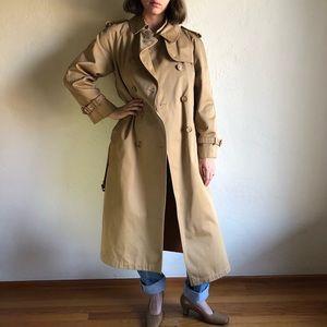 [vintage] camel belted trench coat